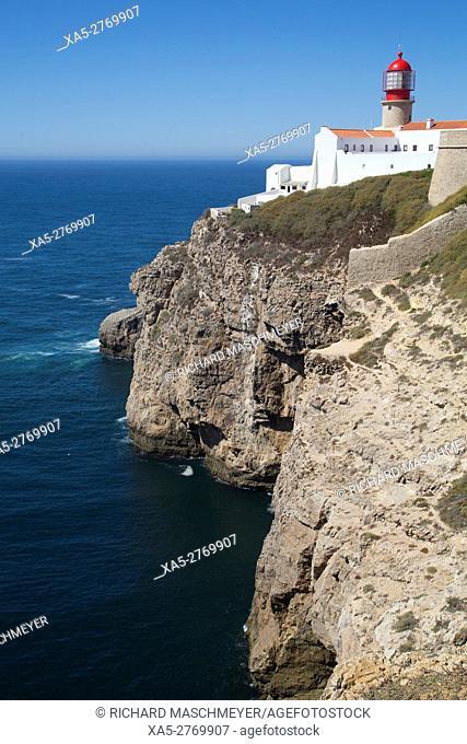 Lighthouse, Cape San Vicente, Sagres, Algarve, Portugal