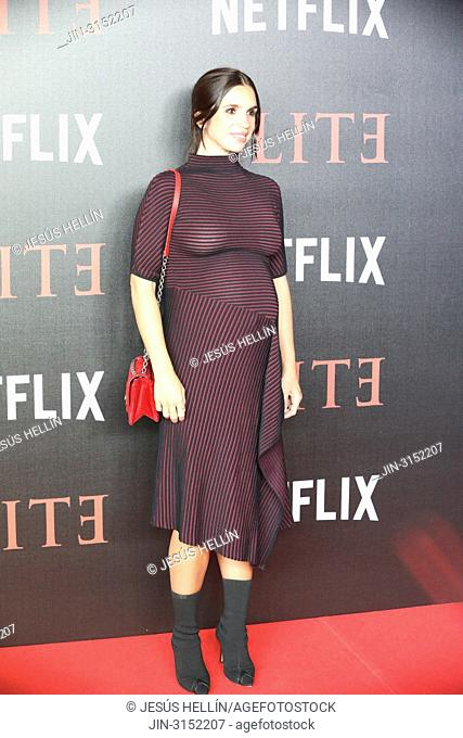Actress ELENA FURIASE attends 'Elite' premiere at Reina Sofia Museum. Premiere of the Élite series, which premieres Netflix -it is its second Spanish original...