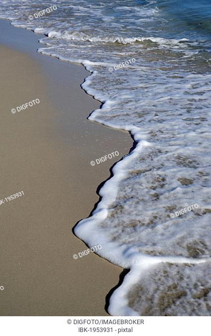 Waves on the beach, Djerba island, Tunisia, Maghreb, North Africa, Africa