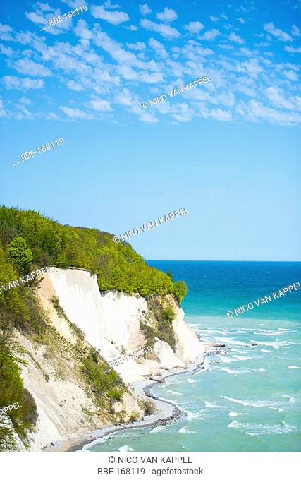 chalk cliffs along the baltic coast of the Jasmund National Park in germany