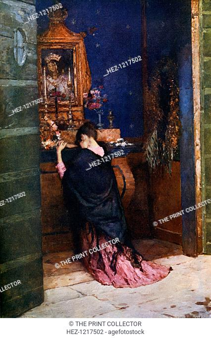 'A Prayer to the Madonna', c1877-1912, (1912). A colour print from Famous Paintings, with an introduction by Gilbert Chesterton, Cassell and Company, (London