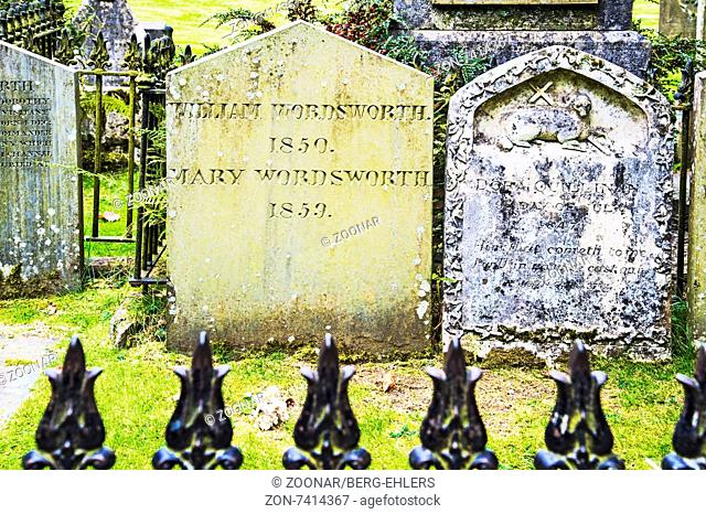Grasmere, Friedhof mit Grab von Wordsworth