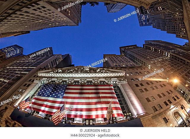 Stock Exchange, Wall Street, Financial district, New York City, USA