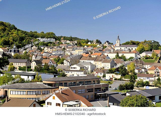 France, Marne, Verzy, view of the village from the east