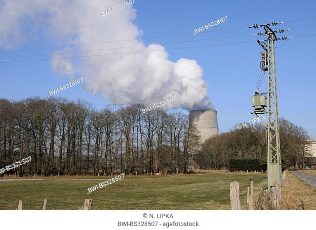 cooling tower of nuclear power station Lingen, Germany, Lower Saxony, Lingen