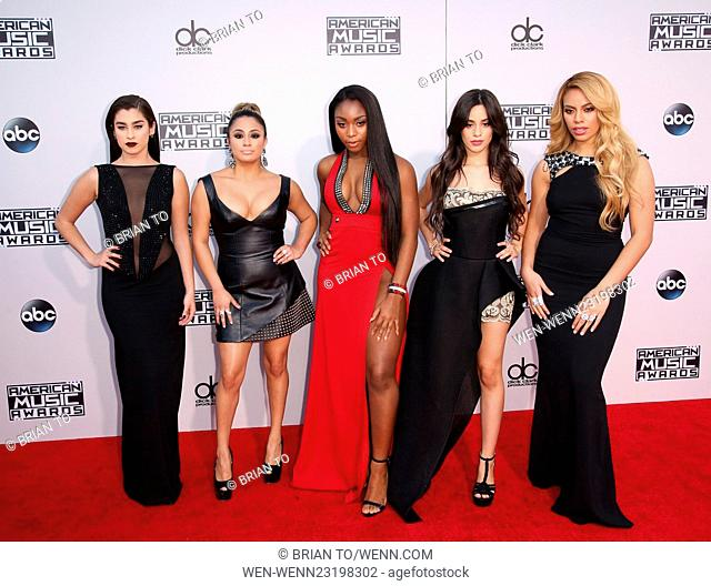Celebrities attend 2015 American Music Awards at Microsoft Theater. Featuring: Fifth Harmony Where: Los Angeles, California