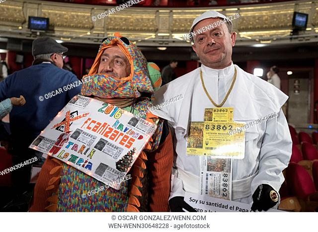 The start of El Gordo (The Fat One) lottery draw at the Royal Theatre. The traditional Spanish Christmas Lottery 'El Gordo' will share out a total of 2