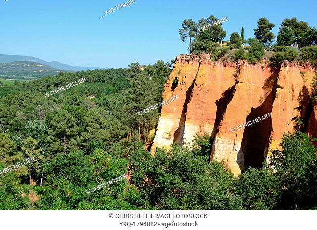 Ochre Outcrops at Roussillon in the Luberon Vaucluse Provence France