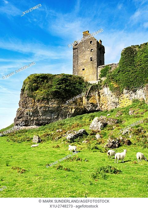Gylen Castle on the Isle of Kerrera Argyll and Bute Scotland