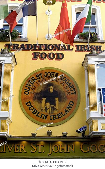 ireland, dublin, the oliver st.john gogarty, temple bar