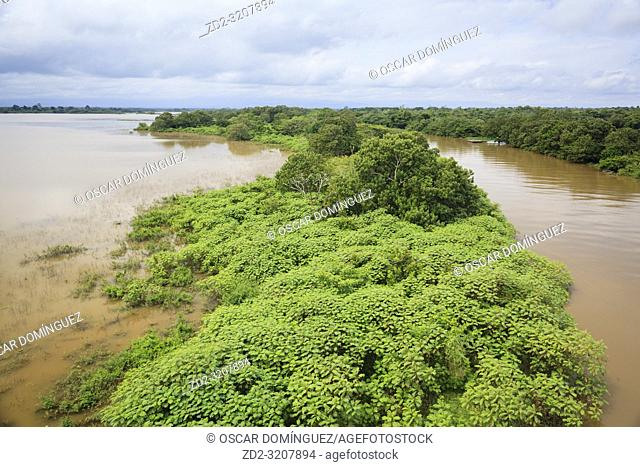 View of Caño Negro Wildlife Refuge with Frío River on the right. Alajuela province. Costa Rica