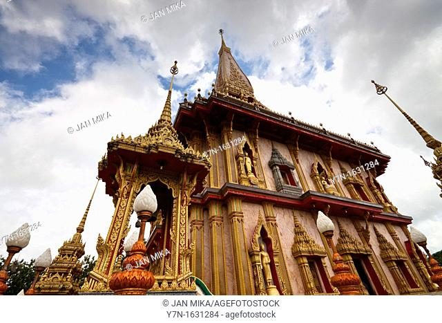 Wat Chalong - Buddhist temple in Phuket, Thailand  Wat Chalong is the largest and the most visited of Phuket's temples