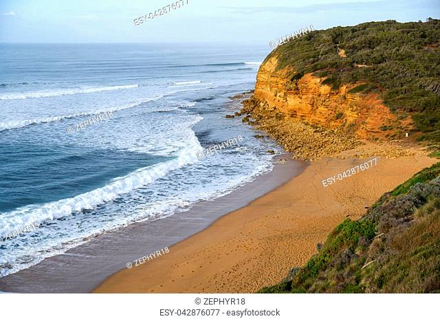 Bells Beach near Torquay and Great Ocean Road, famous beach of Surf in Victoria, Australia