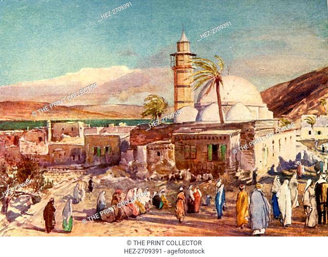 'The Mosque at Tiberias and the Lake of Galilee', 1902. Creator: John Fulleylove