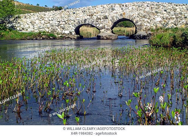 The Quiet man bridge, so known because it featured in the film of the same name, near Oughterard, County Galway, Ireland