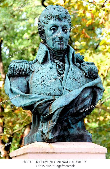 Bust in memory of naturalist Henri Pascal de Rochegude (1741-1834) Albi, Tarn, Occitanie