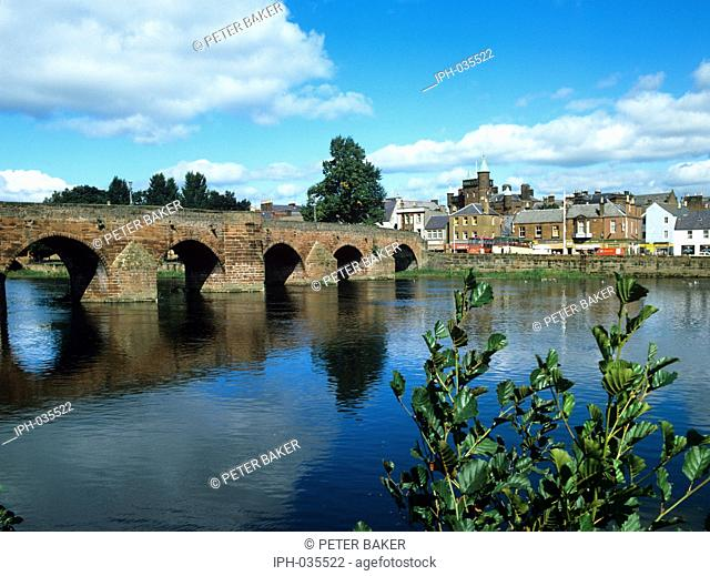Devorgilla Bridge over the River Nith at Dumfries
