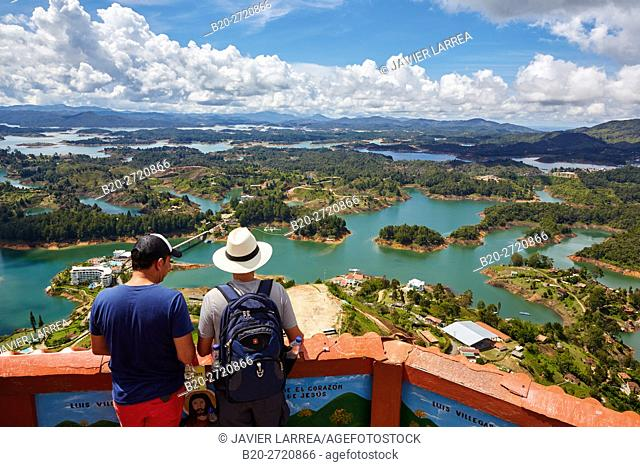 Guatape Reservoir, Peñol stone, El Peñol, Antioquia department, Colombia