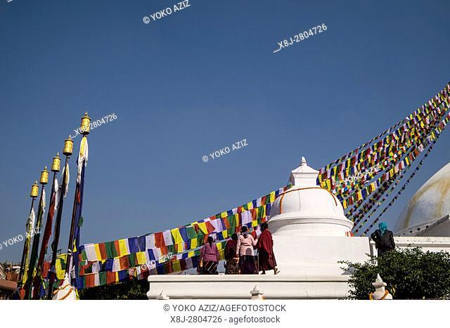 Nepal, Bouddhanath, local temple