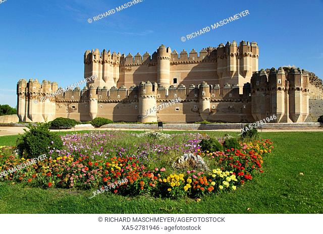 Castle of Coca, built 15th Century, Coca, Segovia, Spain