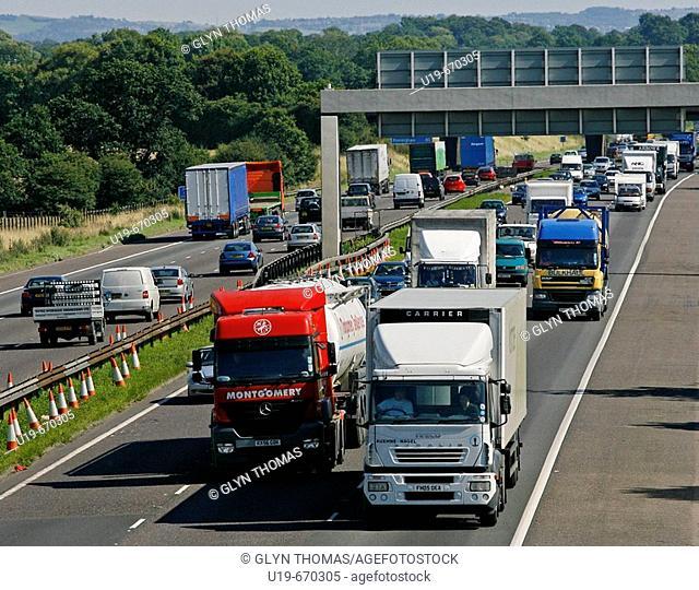 M6 Motorway, Cheshire, England, UK