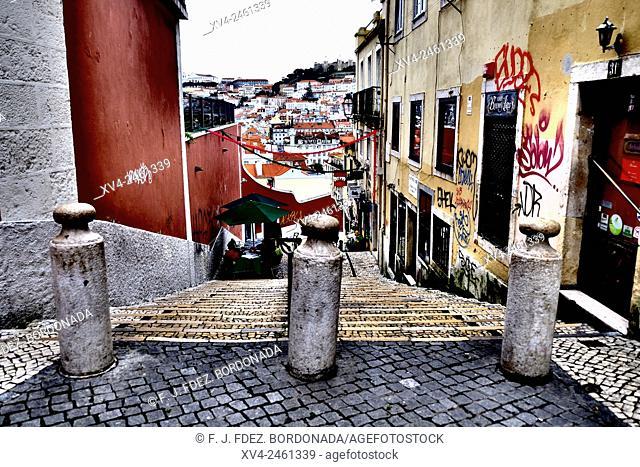 Calzada do Duque, Chiado, Lisbon Portugal
