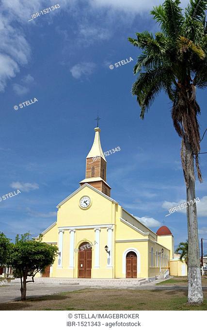 Church of Port-Louis, Grande-Terre, Guadeloupe, French Antilles, Lesser Antilles, Caribbean