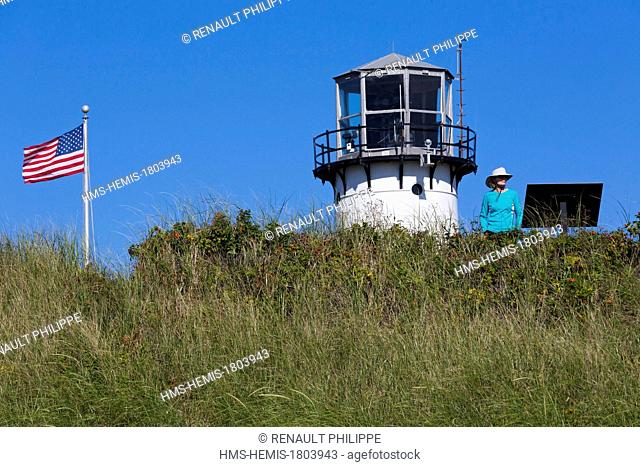 United States, Massachusetts, Cape Cod, Chatham, South Beach, Chatham Light, the lighthouse
