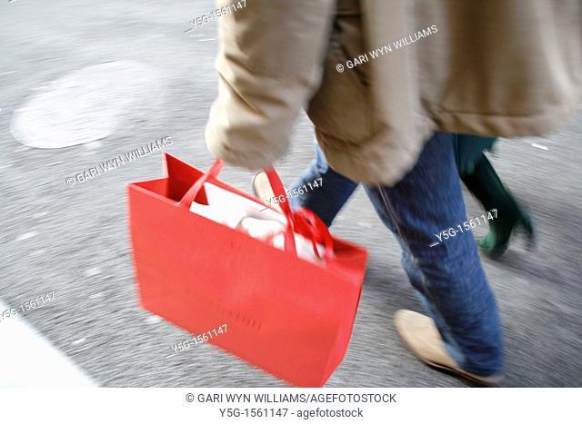 shoppers on via condotti in rome italy