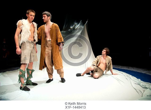 Students in the Theatre Studies department of Aberystwyth University performing William Shakespear'e CYMBELINE