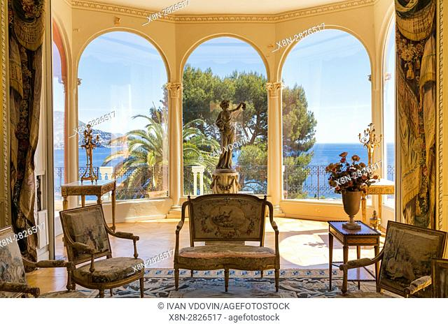 Villa Ephrussi de Rothschild, villa Ile-de-France, Saint-Jean-Cap-Ferrat, French Riviera, Alpes-Maritimes department, France