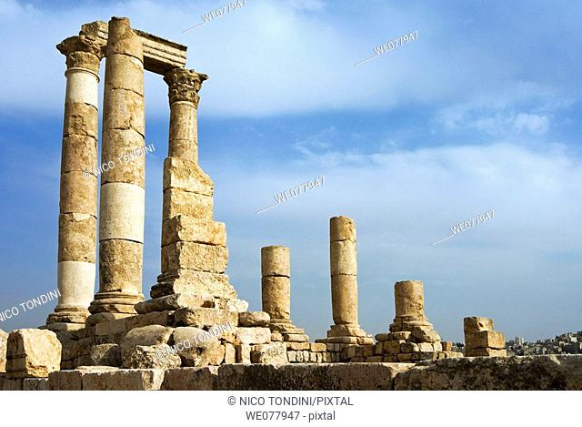 Temple of Hercules, The Citadel, Amman, Jordan, Middle East