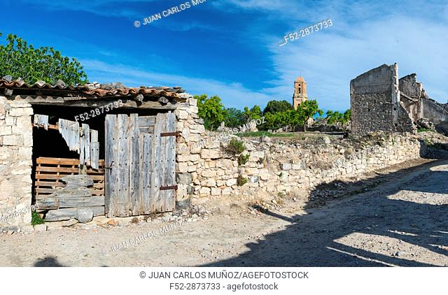 Spanish civil war testimonial village, Poble Vell, Corbera d'Ebre Village, Terres de l'Ebre, Tarragona, Catalunya, Spain