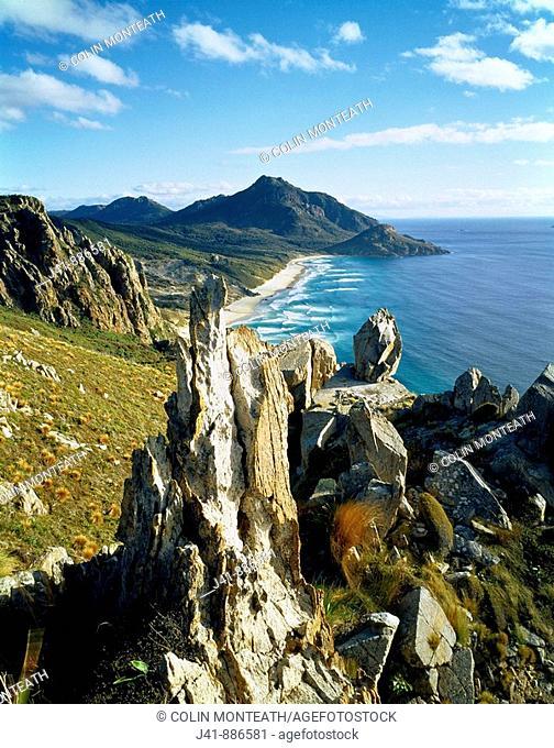 West Ruggedy Beach Rakiura National Park Stewart Island New Zealand