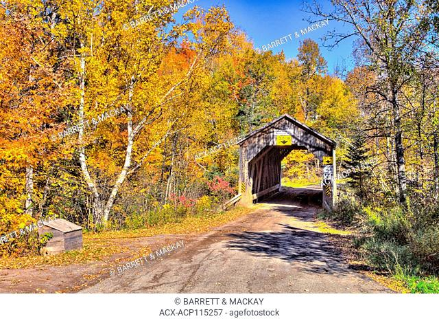 Trout Creek #5 Covered Bridge, Moores Mill, Waterford, New Brunswick, Canada