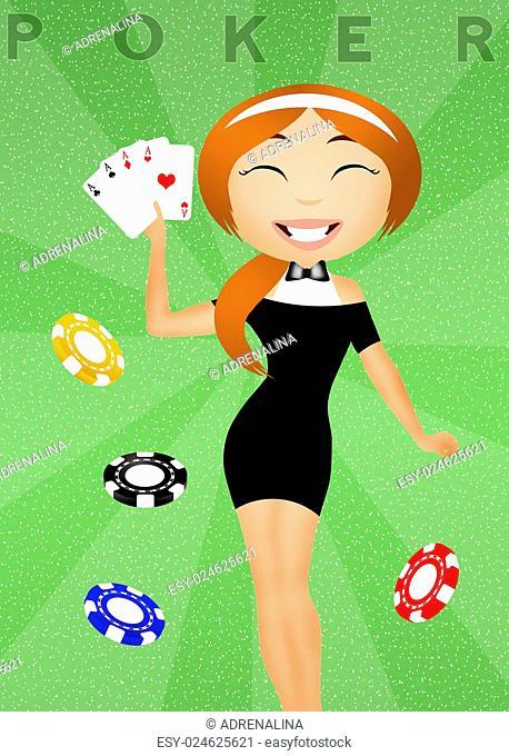 illustration of poker