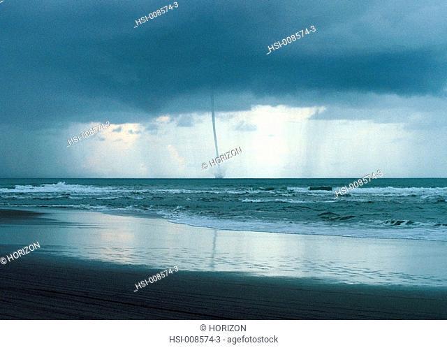 Environment & nature, Tornado/ water spout at sea