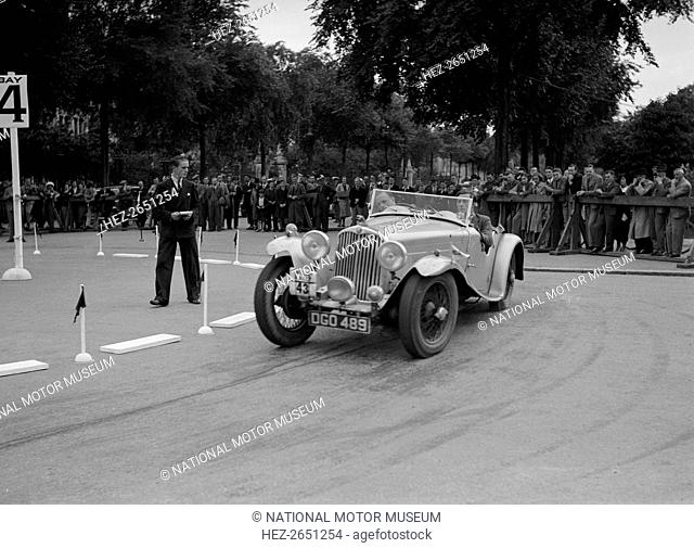 AC of LP Jaques competing in the South Wales Auto Club Welsh Rally, 1937 Artist: Bill Brunell