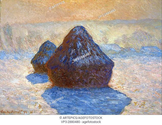 Claude Monet - Haystacks- Snow Effect - National Galleries of Scotland