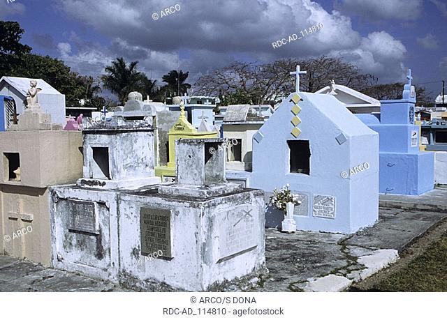 Cemetery Cozumel Island Mexico