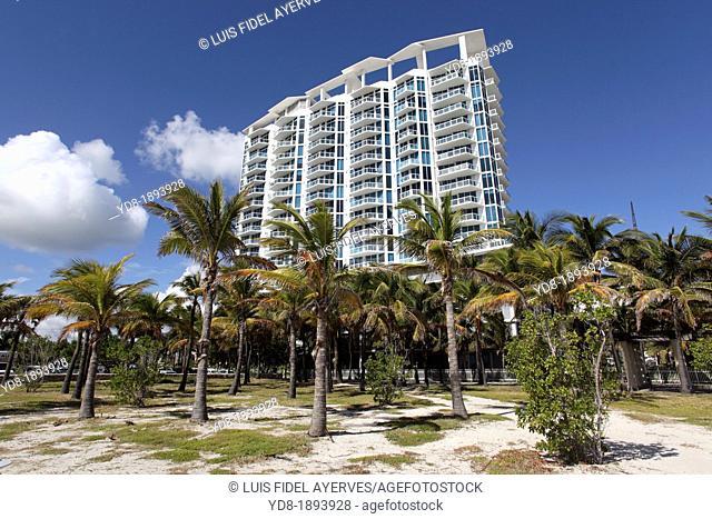 Modern building in Miami Beach, Florida, USA