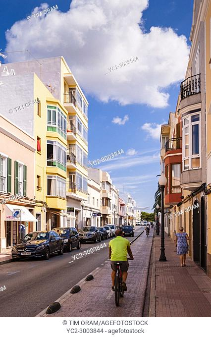 Back streets in Ciutadella de Menorca , Menorca , Balearic Islands , Spain