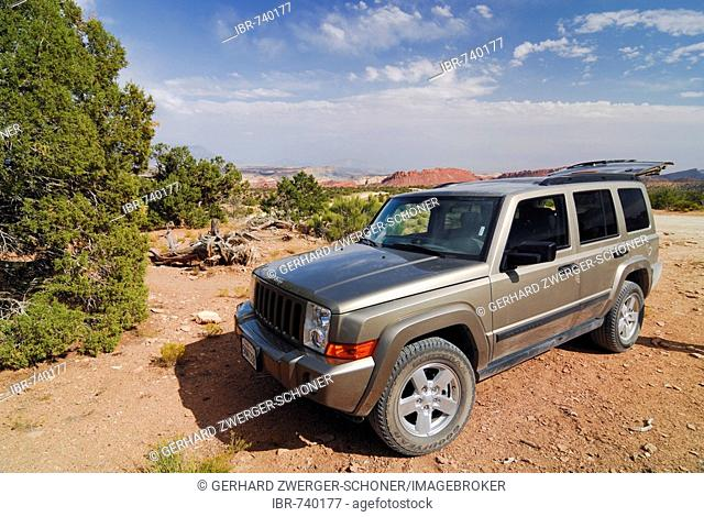 Jeep Commander 4WD, Grand Staircase National Monument, Utah, USA