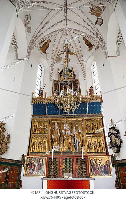The altar, Aarhus Cathedral, Aarhus, Denmark