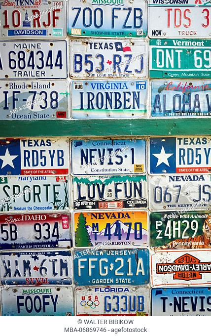 St. Kitts and Nevis, Nevis, Pinneys Beach, license plates