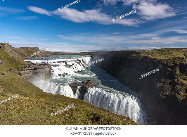 Gullfoss Waterfall. Golden Circle. South Region. Iceland. Europe