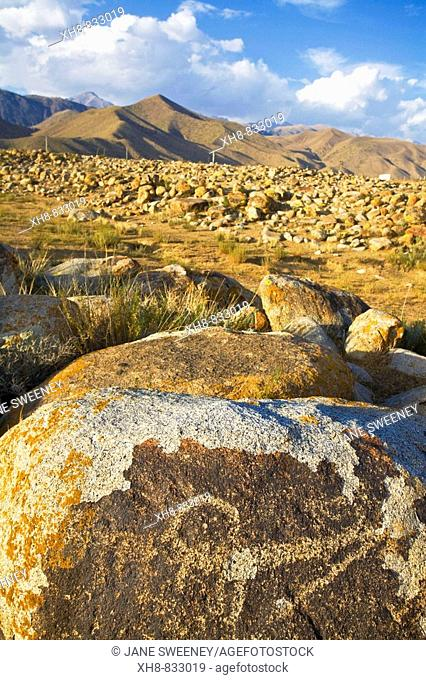 Petroglyphs, Cholpon-Ata beside lake Issyk Kul, Kyrgyzstan