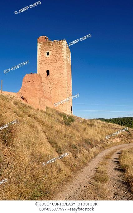 Tower of San Cristobal,walls, (S. XIV ),Daroca. Zaragoza province, Aragon, Spain