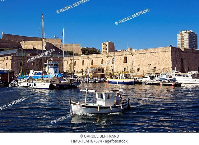 France, Bouches du Rhone, Marseille, Vieux Port