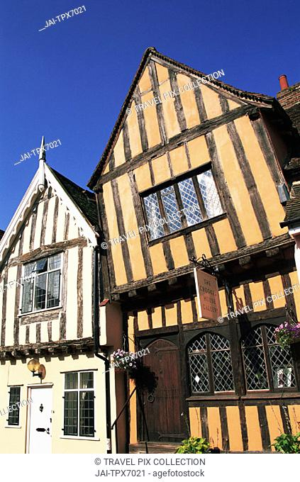 England, Constable Country, Suffolk, Lavenham, Timbered Houses